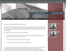 Tablet Preview of detroitchurches.history.msu.edu